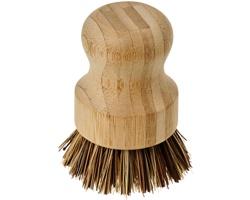 Dřevěný kartáč na nádobí REOIL s rostlinnými štětinami - přírodní