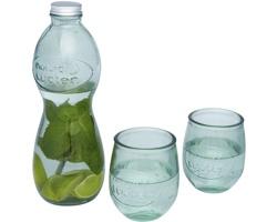 Skleněná sada na pití YEWS z recyklovaného skla, 3 ks - transparentní čirá