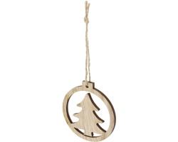 Dřevěná vánoční ozdoba se stromem TREE - přírodní
