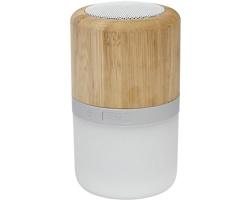 Bambusový bezdrátový reproduktor DRAFT se světlem - hnědá