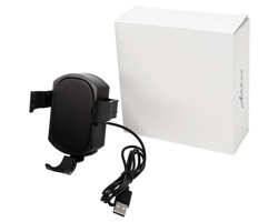 Držák mobilního telefonu do auta TACKS s funkcí bezdrátového nabíjení - černá