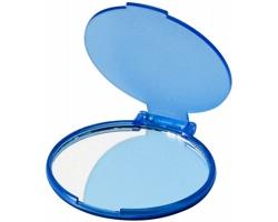 Kapesní plastové zrcátko LOVELY se stojánkem - transparentní modrá