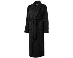 Pánský koupací plášť Seasons BARLETT z měkkého materiálu - černá
