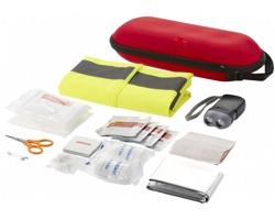 Sada první pomoci s bezpečnostní vestou COLTS, 46 ks - červená