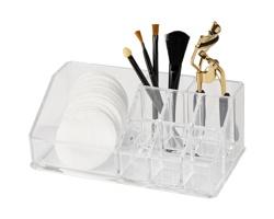 Plastový organizér na make-up ALISSA - transparentní čirá