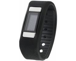 Silikonové fitness hodinky CLARENDON s krokoměrem a měřením aktivity - černá