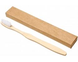 Bambusový zubní kartáček PRIG - bílá