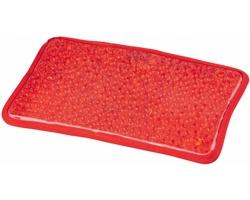 Gelový balíček COOLHOT s plyšovou podložkou pro hřejivé i chladivé použití - červená