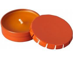 Vonná svíčka WAXIN v plechovce - oranžová