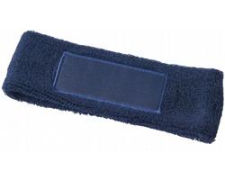 Bavlněná elastická čelenka VENT - námořní modrá