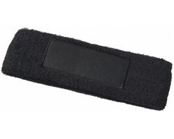 Bavlněná elastická čelenka VENT - černá