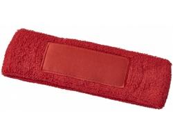 Bavlněná elastická čelenka VENT - červená