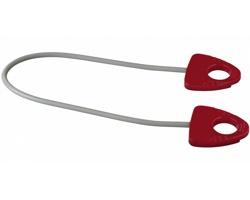 Gumový fitness opasek KVASS pro protahování svalů - červená