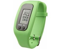 Silikonové chytré hodinky CLAIM, 4 funkce - jemně zelená