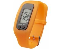 Silikonové chytré hodinky CLAIM, 4 funkce - oranžová