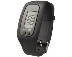 Silikonové chytré hodinky CLAIM, 4 funkce - černá