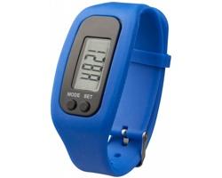 Silikonové chytré hodinky CLAIM, 4 funkce - modrá