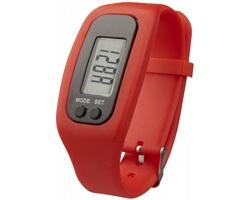 Silikonové chytré hodinky CLAIM, 4 funkce - červená
