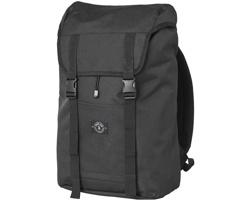 Městský batoh na notebook PIPES z recyklovaných PET lahví - černá