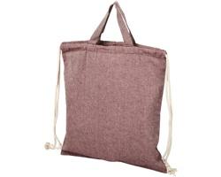 Šňůrkový batoh SCULLED z recyklované bavlny - kaštanový melírkaštanový melír
