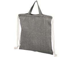 Šňůrkový batoh SCULLED z recyklované bavlny - černý melír - černý melír