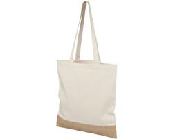 Velká bavlněná nákupní taška KOHEKOHE s jutovým dnem - přírodní / přírodní