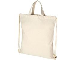 Šňůrkový batoh ASKS z recyklované bavlny - přírodní