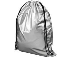 Polyesterový metalický šňůrkový batoh REVOKES - stříbrná