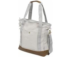 Bavlněná taška přes rameno PUDENDIC s pevným dnem - šedá