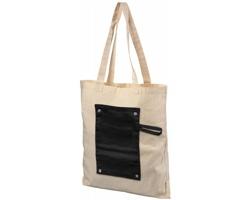 Bavlněná skládací nákupní taška ECON - černá