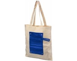 Bavlněná skládací nákupní taška ECON - modrá
