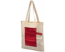 Bavlněná skládací nákupní taška ECON - červená