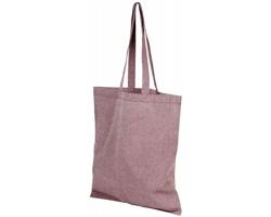 Bavlněná nákupní taška SHOER s dlouhými uchy- vínová