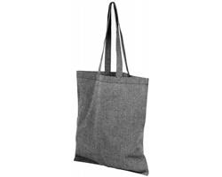 Bavlněná nákupní taška SHOER s dlouhými uchy - černá