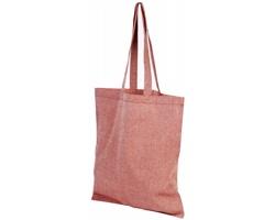 Bavlněná nákupní taška SHOER s dlouhými uchy - červená