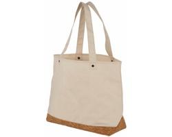 Bavlněná nákupní taška OCOEE s korkovým dnem - přírodní