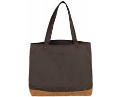 Bavlněná nákupní taška OCOEE s korkovým dnem - šedá