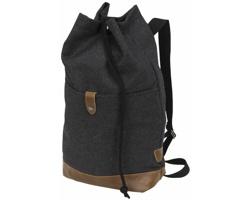 Polyesterový batoh IRON se stahovací šňůrkou - tmavě šedá