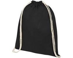 Bavlněný šňůrkový batoh AULANDER - černá