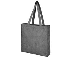 Látková nákupní taška COYLY z recyklované bavlny - tmavě šedý melír