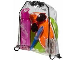 Průhledný batůžek CLEAR se stahovací šňůrkou - transparentní čirá