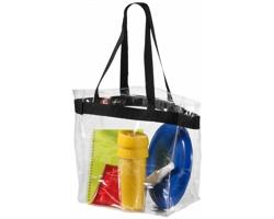 Trendy průhledná taška CRUS - černá / transparentní čirá