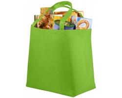 Netkaná recyklovatelná nákupní taška WELT - jemně zelená