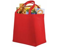 Netkaná recyklovatelná nákupní taška WELT - červená