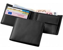 Kožená náprsní peněženka WALLIS v dárkové kazetě - černá