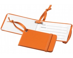Visačka na zavazadlo RBIS s elastickým uzávěrem - oranžová