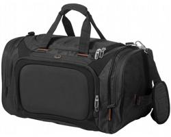 Velká sportovní taška AUTH se zpevněným prostorem pro elektroniku - černá