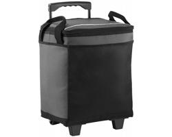 Chladící taška na kolečkách SUET s kapacitou 32 plechovek - šedá / černá