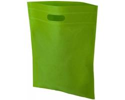 Netkaná kongresová taška LINTY s vyseknutou rukojetí - jemně zelená