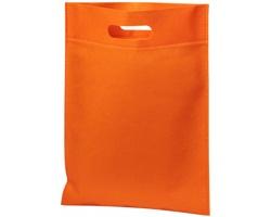 Netkaná kongresová taška LINTY s vyseknutou rukojetí - oranžová